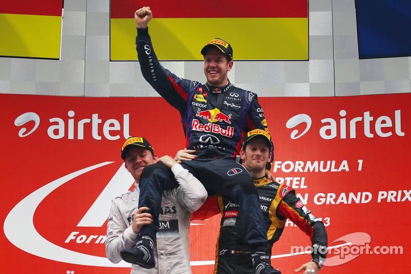 The amazing Vettel: Four consecutive championships
