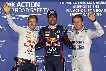Webber steals pole from team mate Vettel in Abu Dhabi