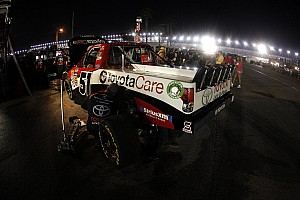 NASCAR Truck Race report Debris on grill leads to engine failure for Kyle Busch at Texas