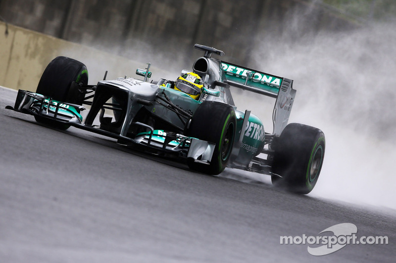 Mercedes's Rosberg will start from the front row for the Brazilian GP