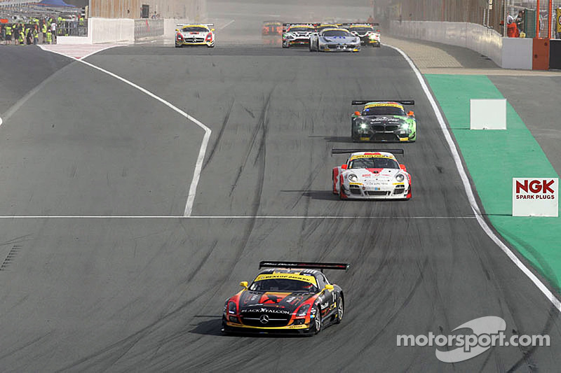Podium for Black Falcon's SLS AMG GT3 at the 24 hours of Dubai