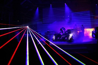 Laser light assists the Audi drivers at Le Mans