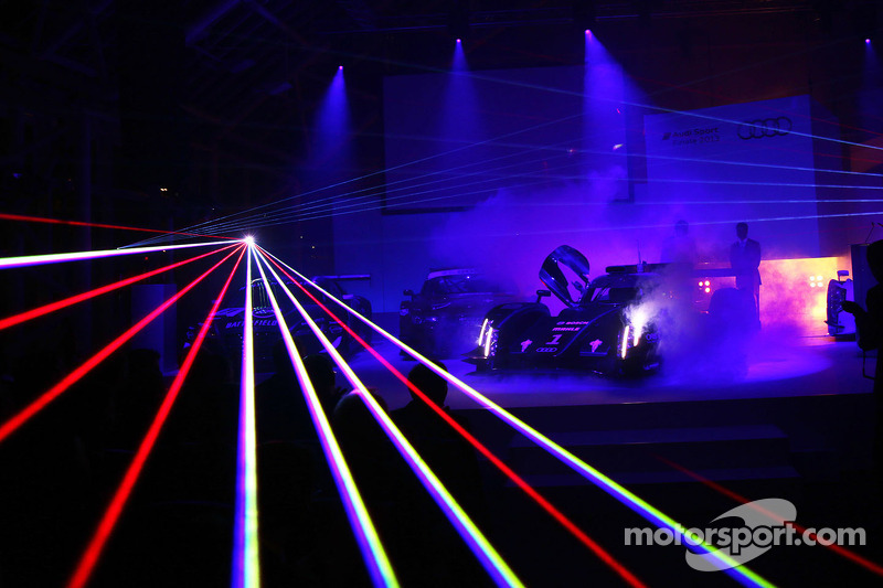 Laser light assists the Audi drivers at Le Mans