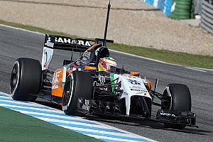 Formula 1 Testing report Productive second day for Sahara Force India at Jerez