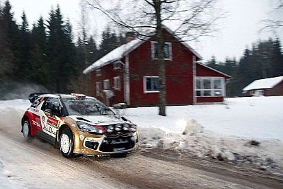 Mads Østberg on course for podium spot on day 2 at Rally Sweden