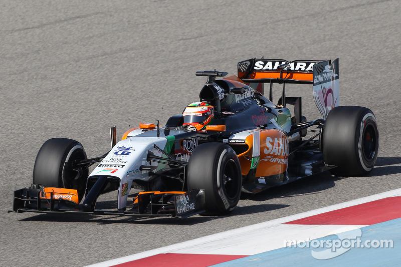 Sahara Force India clocks up 57 laps in Bahrain on test day three