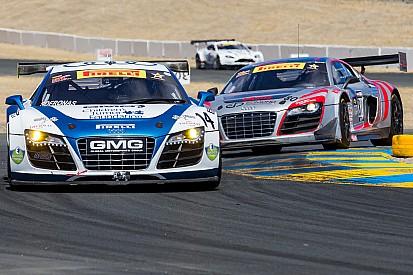 Six Audi R8 LMS ultra cars in Pirelli World Challenge