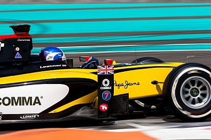Jolyon Palmer tops Day 1 at Yas Marina test