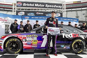 NASCAR Cup Breaking news Denny Hamlin wins Coors Light Pole at Bristol