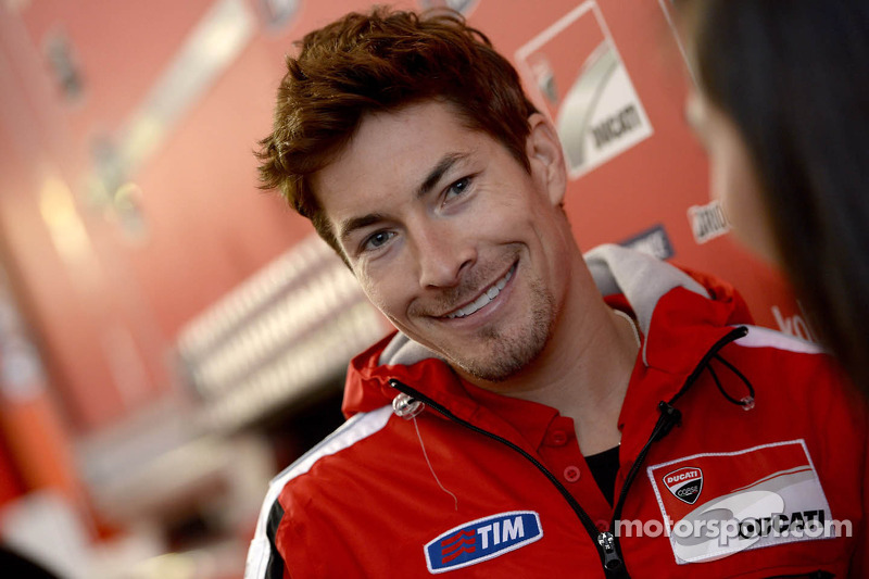 In the garage with Nicky Hayden