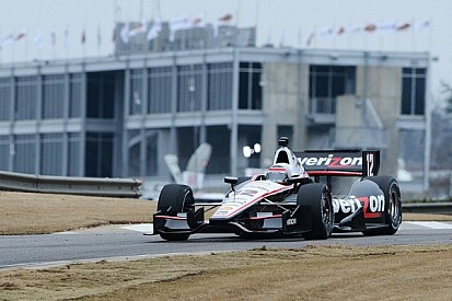 Team Penske leads shortened first day of testing at Barber