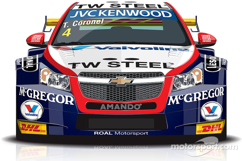 Tom Coronel presents livery Roal Motorsport Chevrolet car for 2014 - video