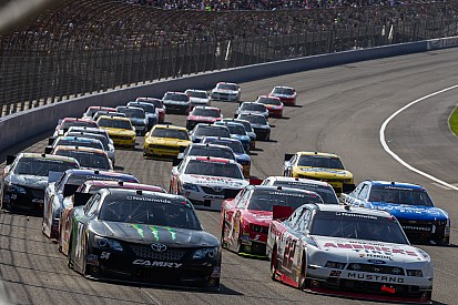 Ford Racing drivers after race at Auto Club 300