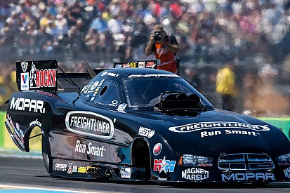 Hagan, Mopar/Rocky Dodge Charger R/T holds pole at Las Vegas