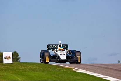 Lockup on 1st qualifying lap hurts Conway's chances