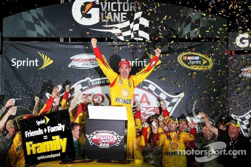 Logano steals win in wild NASCAR Sprint Cup race at Richmond