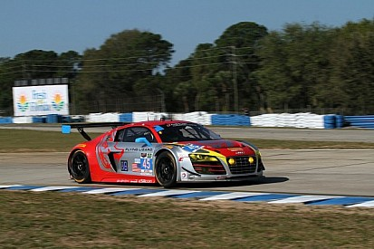 Flying Lizard Audi on class pole for TUDOR Championship race