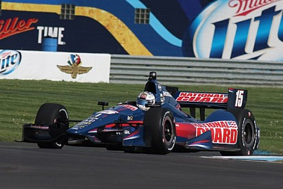 A lap of the Indy Road Course with Graham Rahal of RLL Racing with Google Glass - video