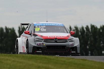 Loeb prevails in rain-soaked Race 1