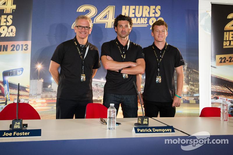 Actor Patrick Dempsey joins Patrick Long, Joe Foster for Le Mans