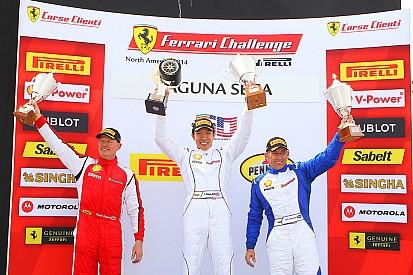 Three victories for Scuderia Corsa in Ferrari Challenge at Laguna Seca
