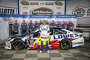 NASCAR Cup Qualifying report Jimmie Johnson puts Chevrolet SS on pole at Charlotte