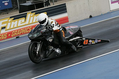 Pro Stock motorcycle's Andrew Hines likes view from top heading to Summernationals