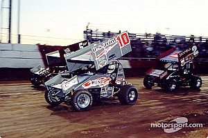 World of Outlaws Race report Dale Blaney battles to the win in WoO feature at Attica Raceway Park