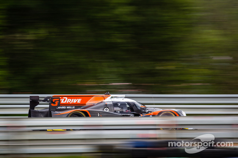 Brundle and Ligier JS P2 on the pace at Le Mans Test Day