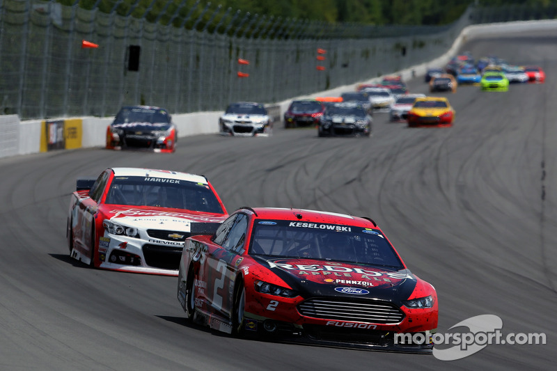 Keselowski settles for second after dominating run in the Poconos