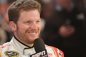 NASCAR Cup Breaking news Dale Earnhardt Jr. leaves competition in the dust -- literally