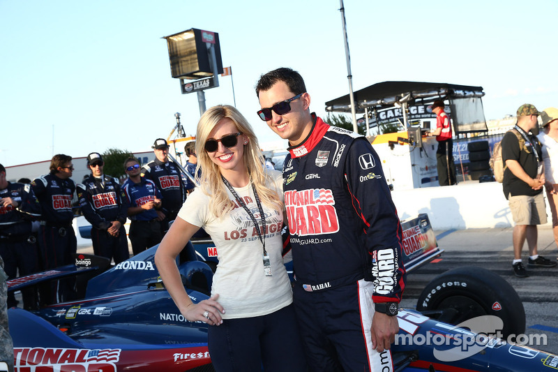 What Graham Rahal is learning by dating Courtney Force