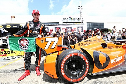Pagenaud speeds to the pole for IndyCar's first race in Houston