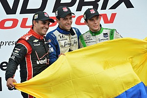 IndyCar Race report Huertas earns maiden IndyCar victory in a Colombian 1-2-3