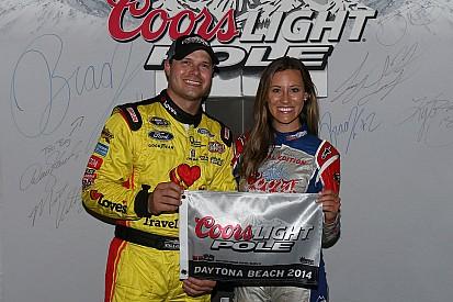 And qualifying first at Daytona for the Coke Zero 400: David Gilliland?