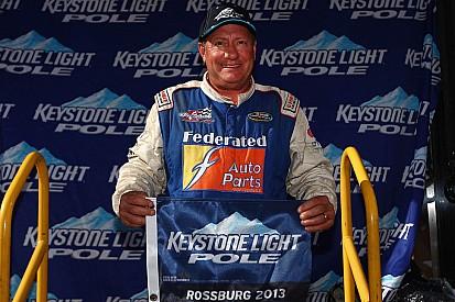 Polesitter Ken Schrader comes close at Winchester, but rookie Jones prevails