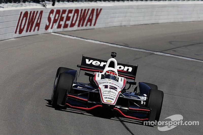 Penske on top during IndyCar practice at Iowa