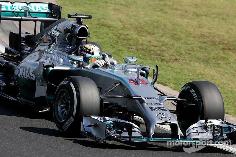 Hamilton on top again in Hungary