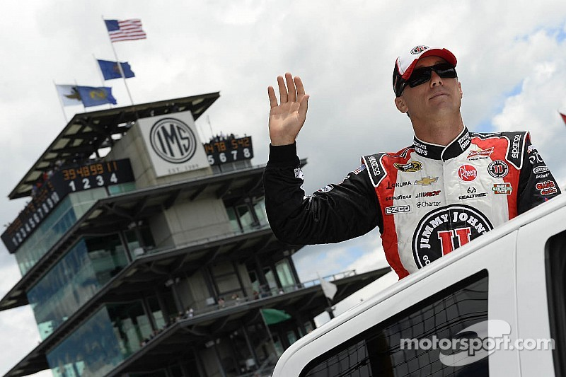 Kevin Harvick sets a new qualifying record for the Brickyard 400