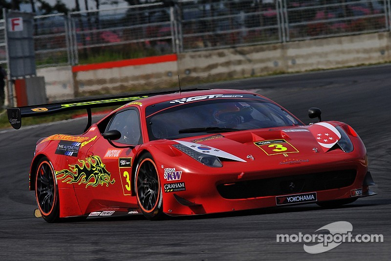 Ferrari on top in practice at Sepang for GT Asia Series