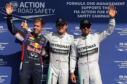 Rosberg secures Belgian GP pole in treacherous conditions
