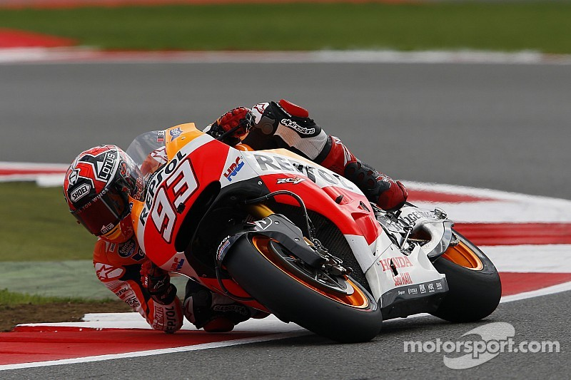 Bridgestone: Marquez runs riot in cool conditions to take pole position at Silverstone