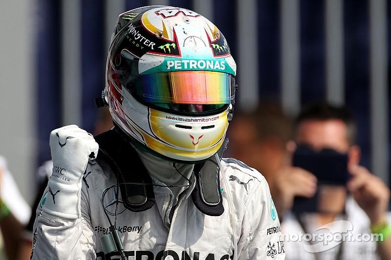 Hamilton won the 2014 Italian GP with Rosberg second