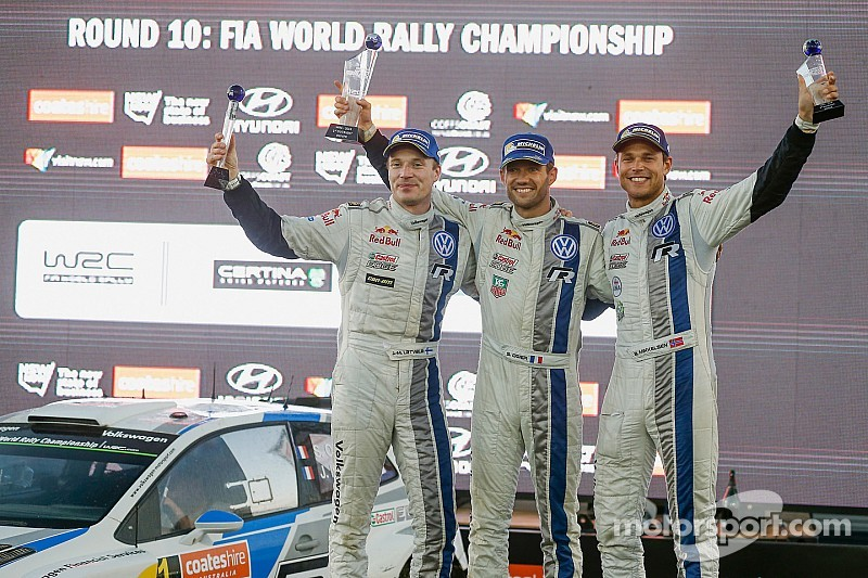 Ogier takes Rally Australia victory in a VW 1-2-3