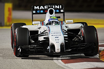 Massa qualified sixth and Bottas eighth for tomorrow's Singapore GP