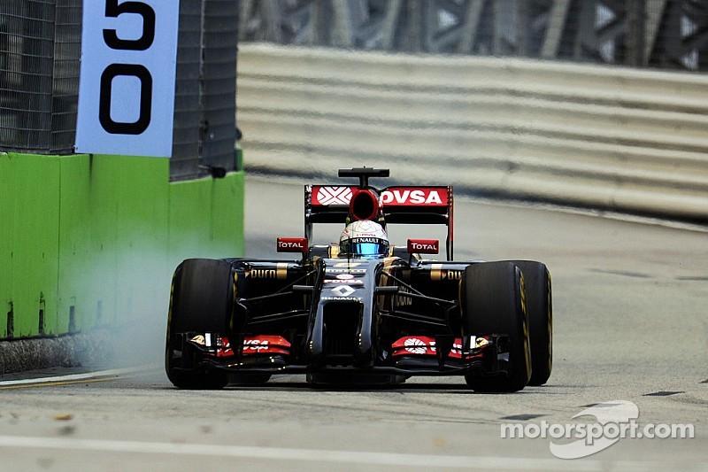 Lotus endured a frustrating qualifying session at the Marina Bay Street Circuit