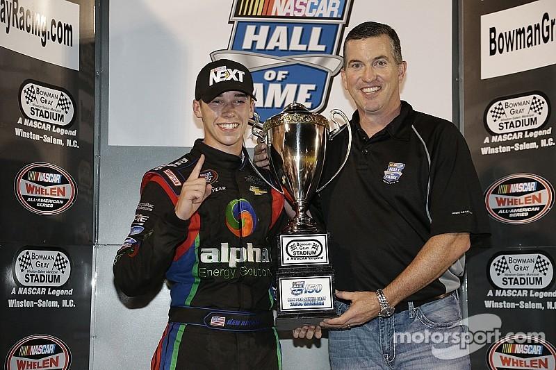 Teenager, high school student, and NASCAR champion Ben Rhodes