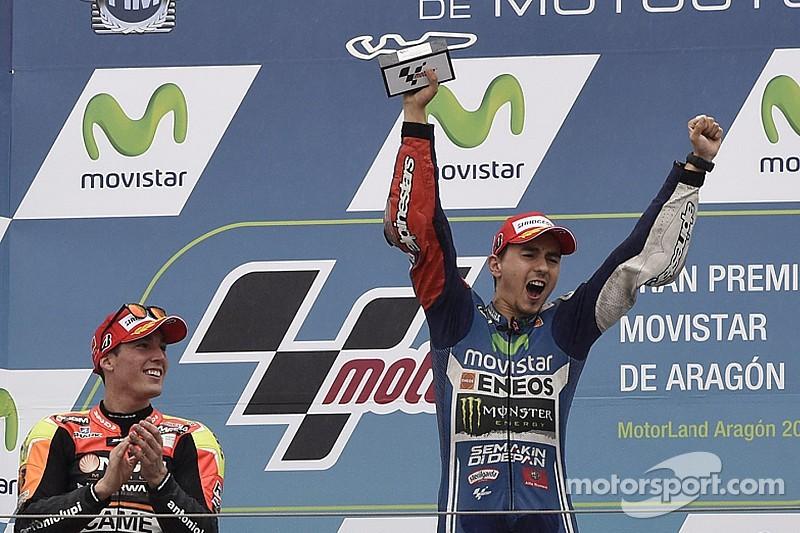 Movistar Yamaha magic continues as Lorenzo masters Aragon