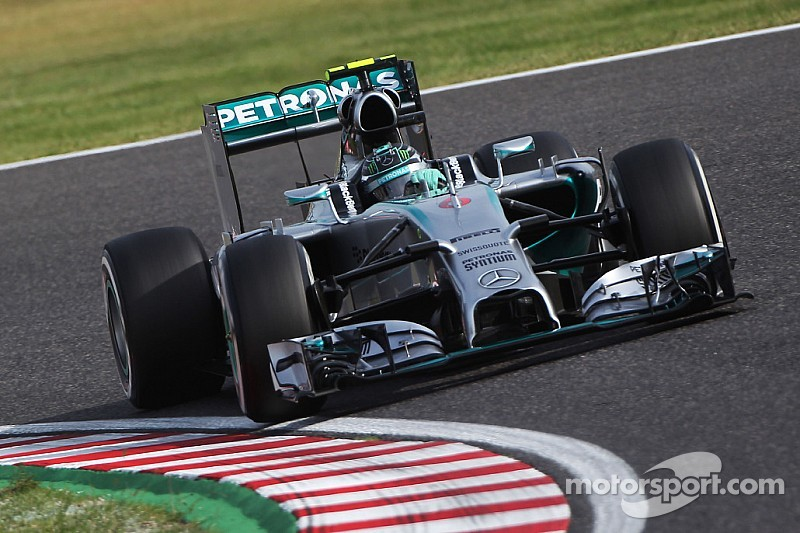 Mercedes' Rosberg claimed pole position for tomorrow's Japanese GP