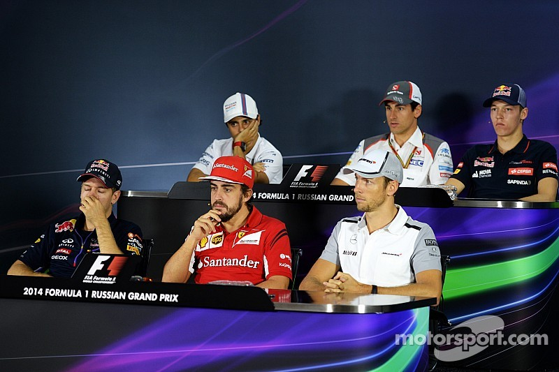Drivers sit down for emotional Sochi press conference